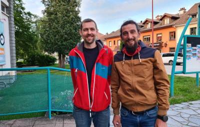 Pierre Médy & Stéphane Brogniard lors de l'avant-première à la MCL de Gérardmer.