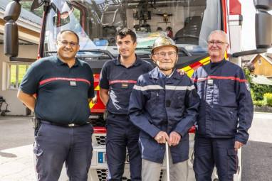 René Viry en compagnie de David Bonnard, Thomas Gion et Yvan Ertzbischoff.