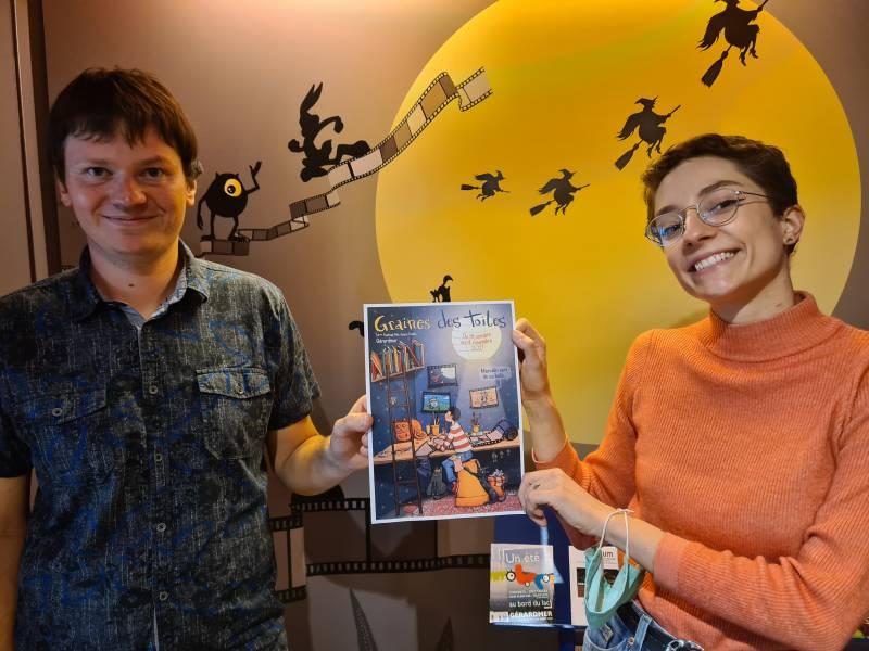 Soléne Nicolas et Loïc Moresi vous concocte la nouvelle édition de Graines des Toiles et vous donnent rendez-vous cet automne à la MCL.