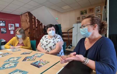 Ludivine Colomd, Delphine Aubry et Jeanne Depa ont évoqué la rentrée de la MCL.