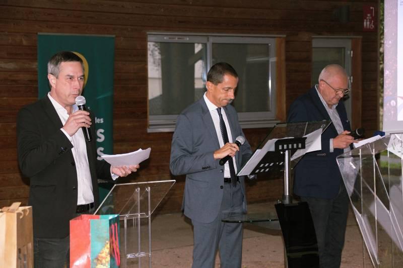 Présentation du projet de scission par messieurs S. Speissmann, D. Houot et P. Lagarde.