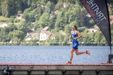 Pauline  L Triathlon Gérardmer pont