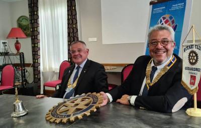 Rotary président Fumey + Gouverneur Pèran (1)