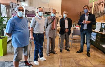 Vernissage de l'exposition en présence du maire de Gérardmer et des représentants des harkis de Gérardmer.