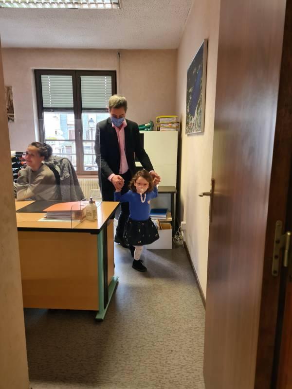 Petite visite dans les bureaux de la mairie...